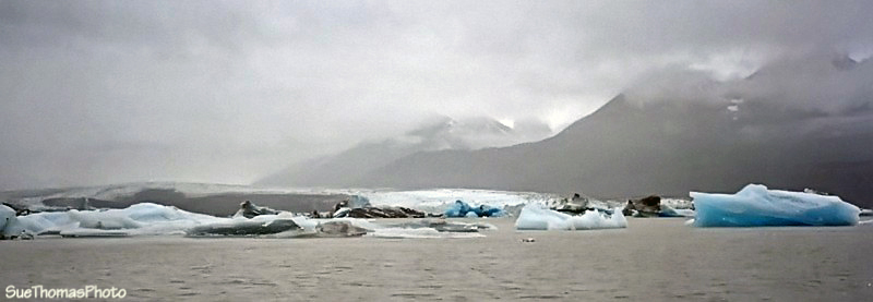 Icebergs on Lowell Lake