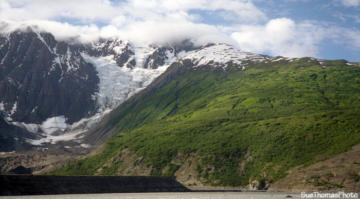 Glacier & mountain on Alsek River