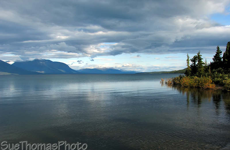 Atlin Lake viewed in the morning from Warm Bay, BC