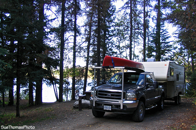 Camping at Bear Lake, north of Prince George, B.C.