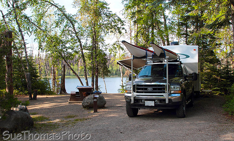 Lac La Hache Provincial Park campground, British Columbia