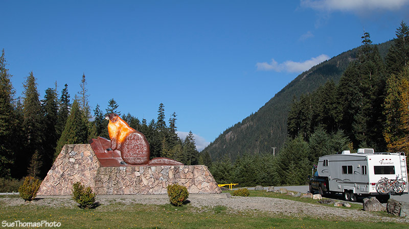 Sign at Manning Park entrance, B.C.