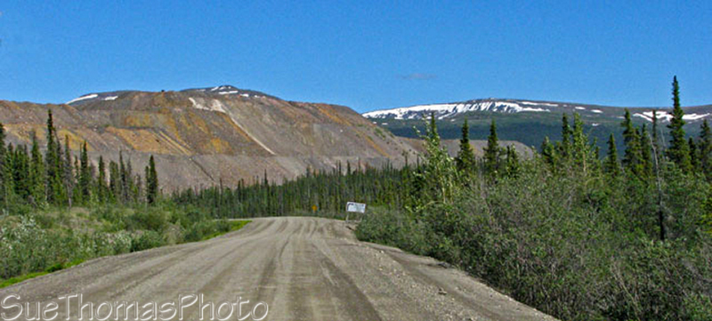 Anvil mine road near Faro, Yukon