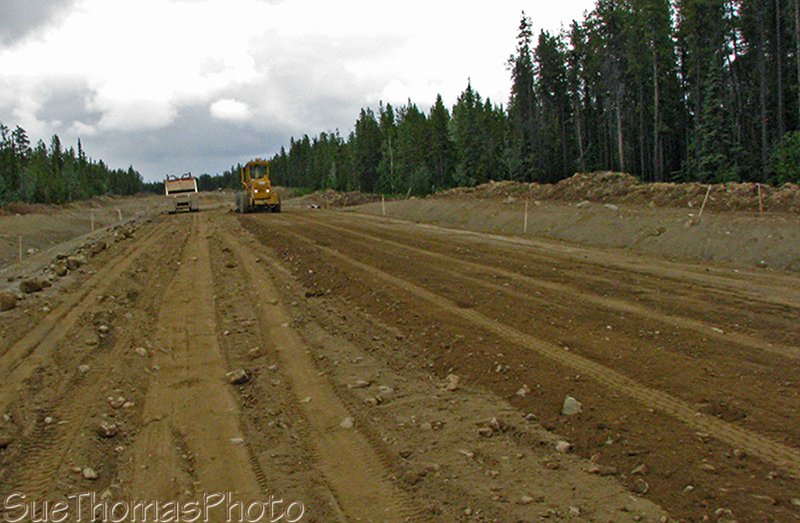 Construction on Campbell Highway, Yukon