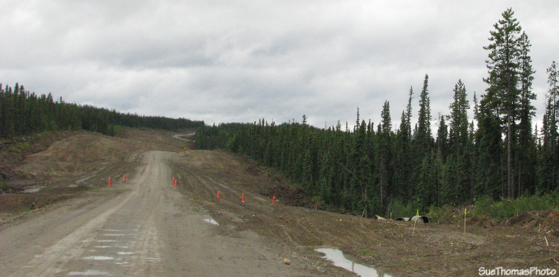 Construction on the Campbell Highway, Yukon