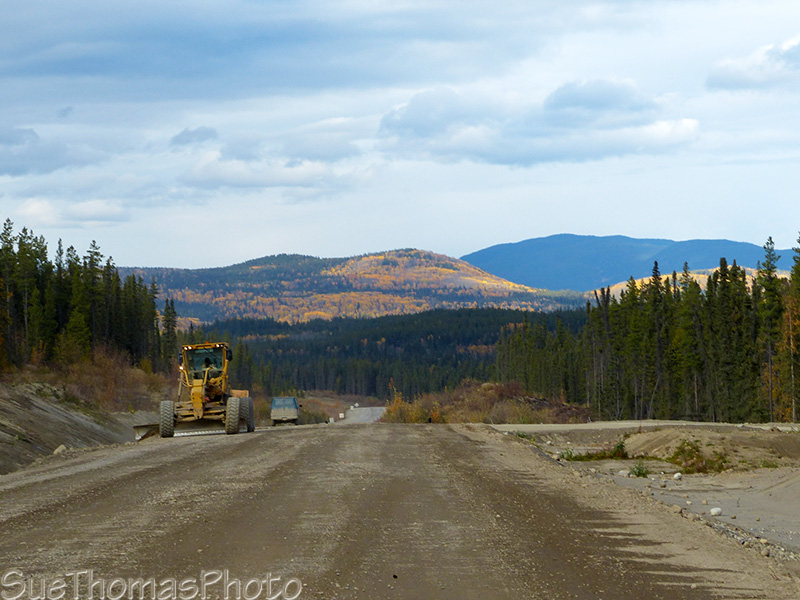 Heavy equipment, construction, Campbell Highway