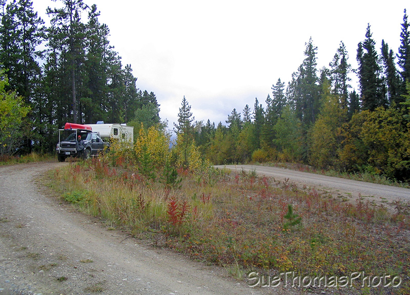 Lunch stop on South Canol Road, Yukon