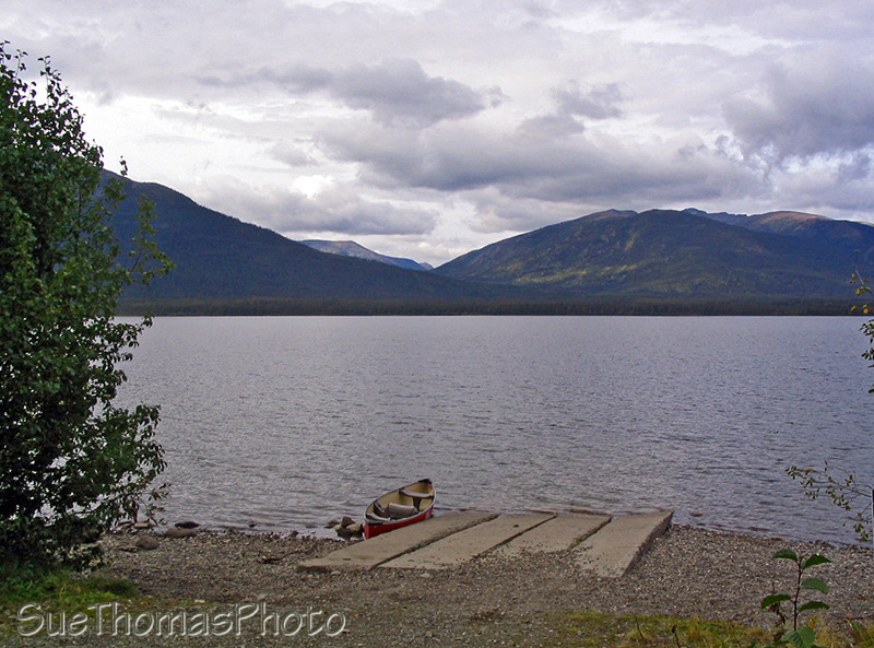 Quiet Lake boat launch on the South Canol Road, Yukon