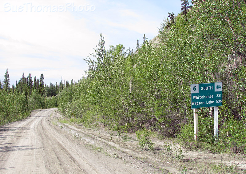 Sign on South Canol Road, Yukon