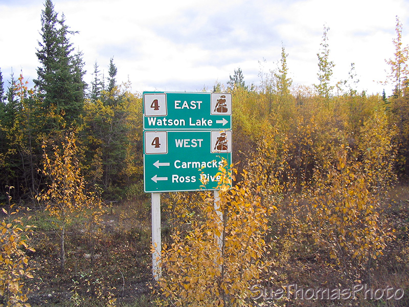 Sign at North end of South Canol Road, Yukon