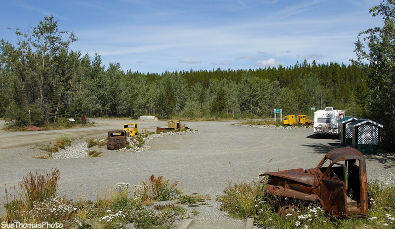 Rest area at the start of the South Canol in Yukon