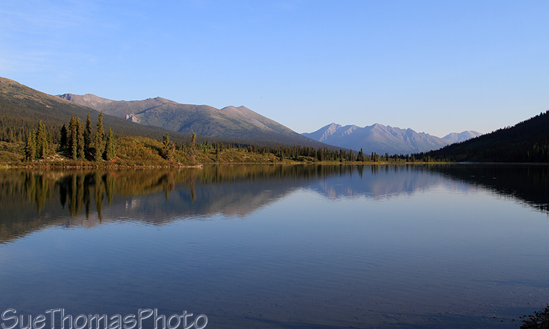 Lapie Lake on the South Canol Road in Yukon
