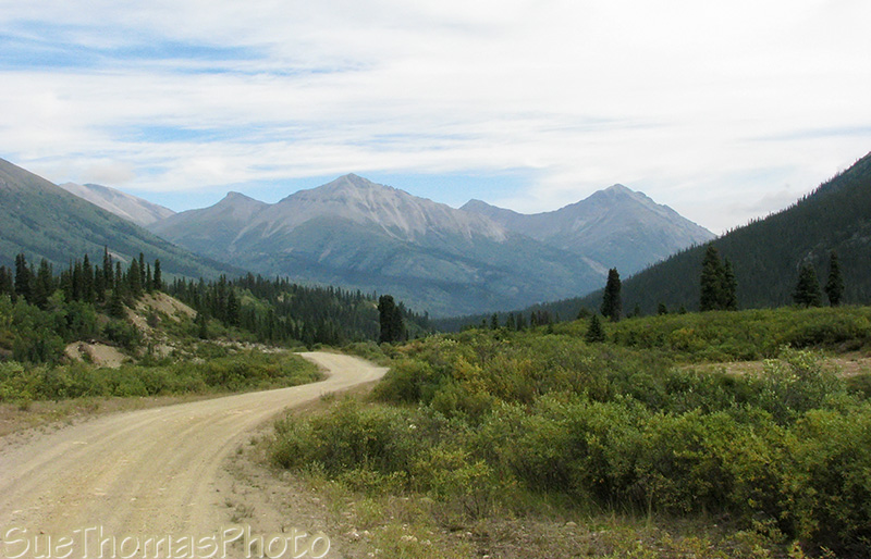 Northbound on the South Canol Road in Yukon