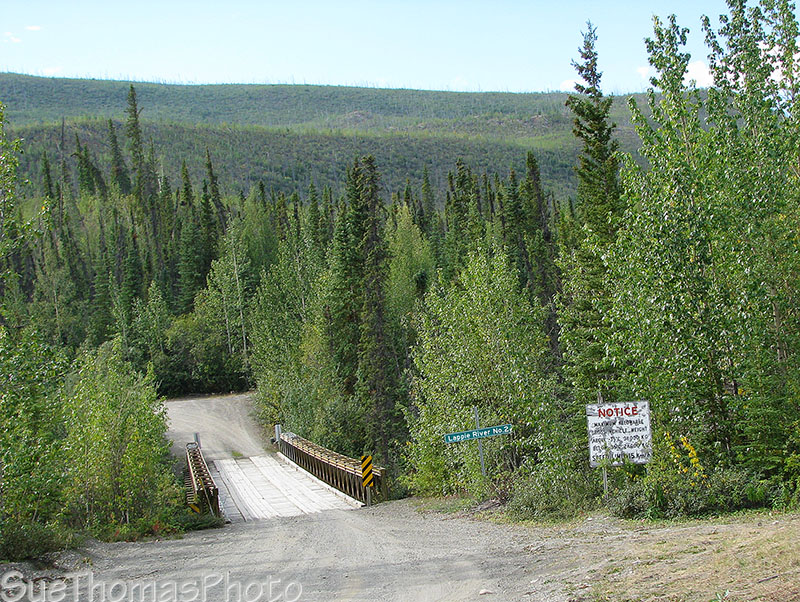 Lapie River Bridge on the South Canol Road in Yukon
