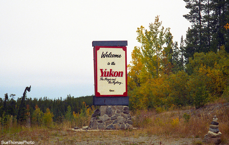 Yukon border sign, Cassiar Highway