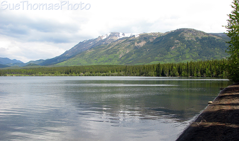 Hiking at Kinaskan Lake, Cassiar Highway, BC