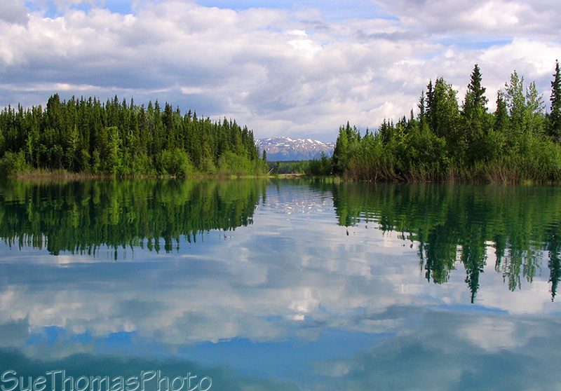 Canoeing on Boya Lake, Cassiar Highway, BC