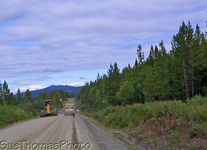 Cassiar Highway construction zone