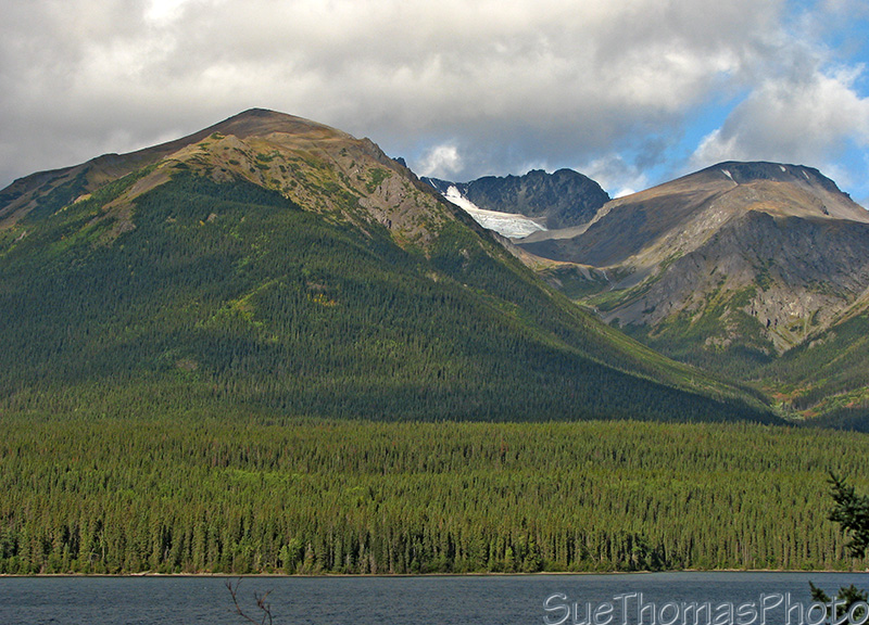 Alongside Eddontenajon Lake on the Cassiar Highway