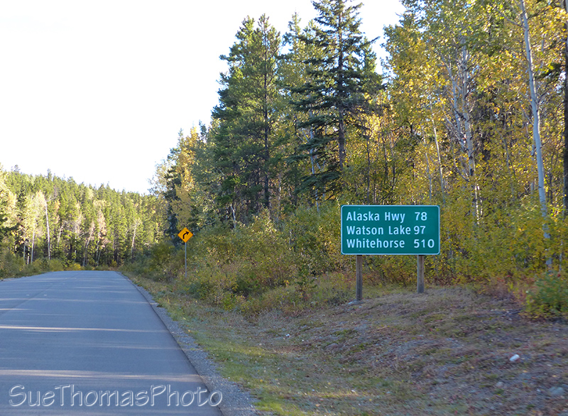 Distance sign on Cassiar Hwy