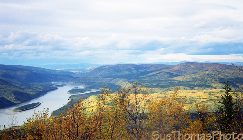 Yukon River from Dome Mountain, Dawson City, Yukon