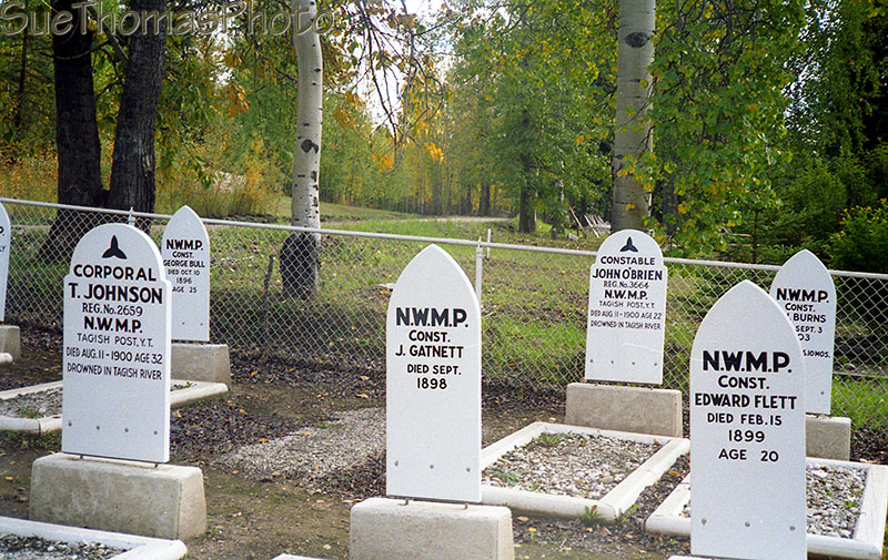 NWMP graves in Dawson City