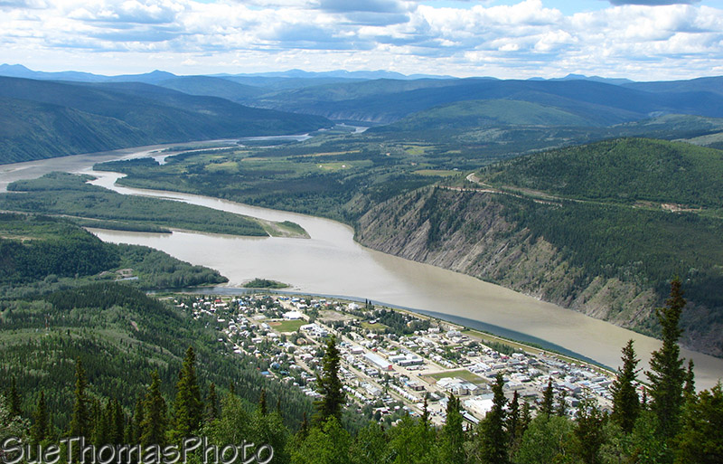 View of Dawson City from Dome Mountain, Dawson City