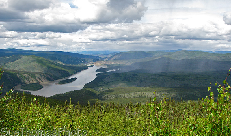 View of Yukon River from Dome Mountain, Dawson City