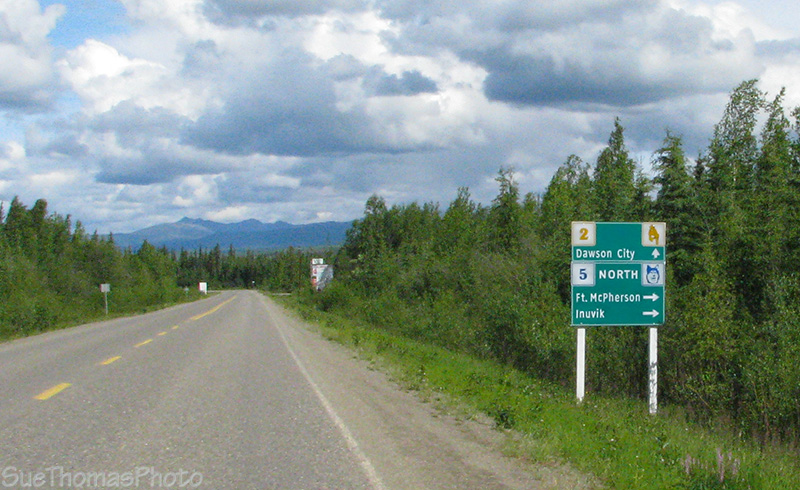 North Klondike Hwy sign