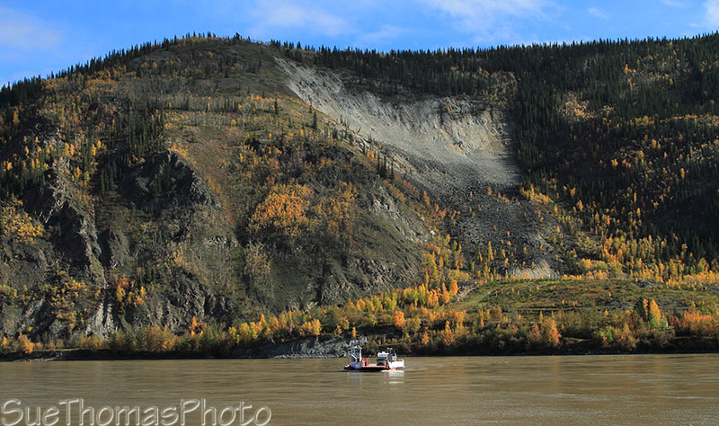 Yukon River ferry crossing at Dawson City, Yukon