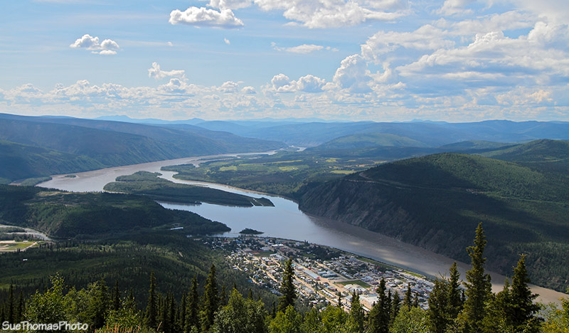 Dawson City from Midnight Dome
