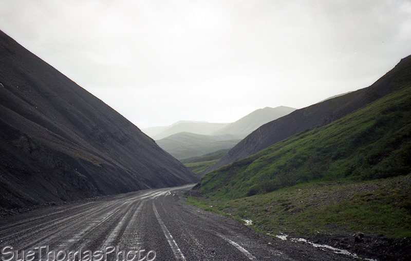 Dempster Highway, NWT in the rain