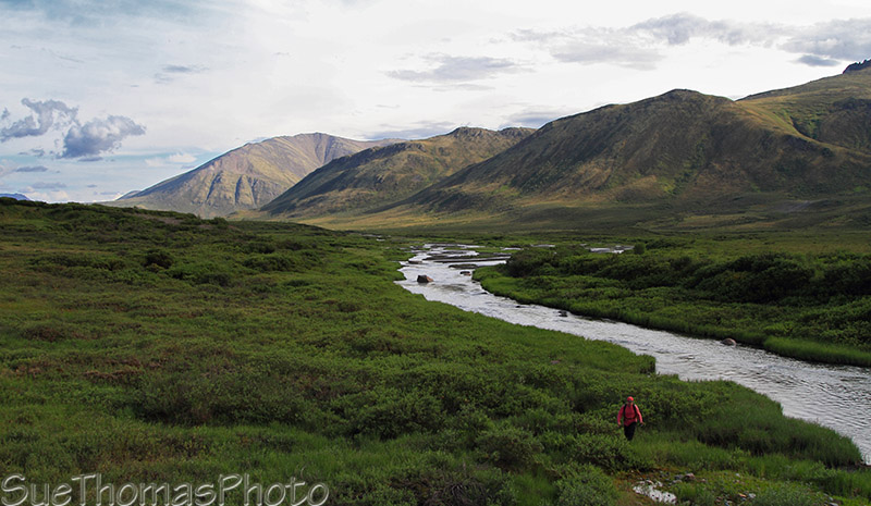Unsuccessful fishing along the Dempster Highway in Yukon