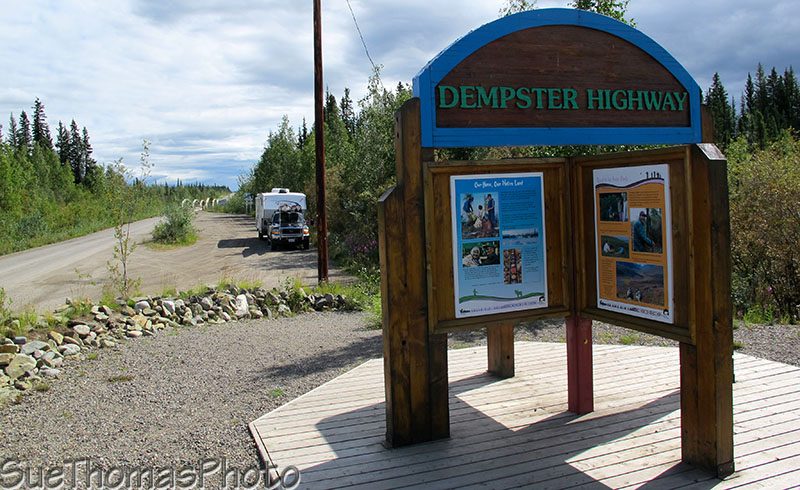 Dempster Highway sign in Yukon