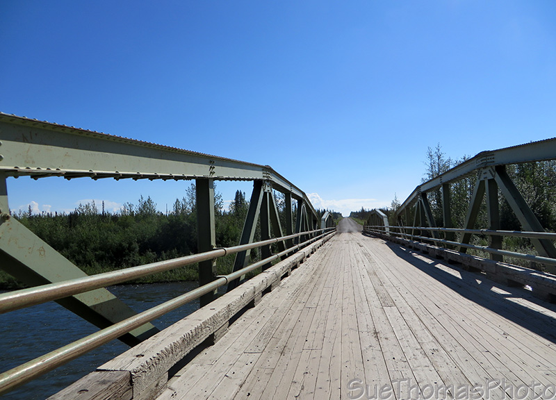 Bridge at the start of the Dempster Highway