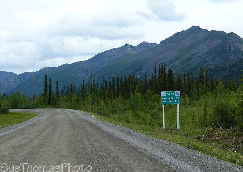 Sign on the Dempster Highway