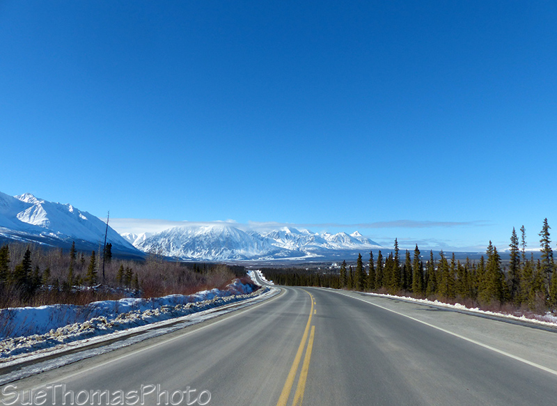 Northbound Haines Highway towards Haines Junction