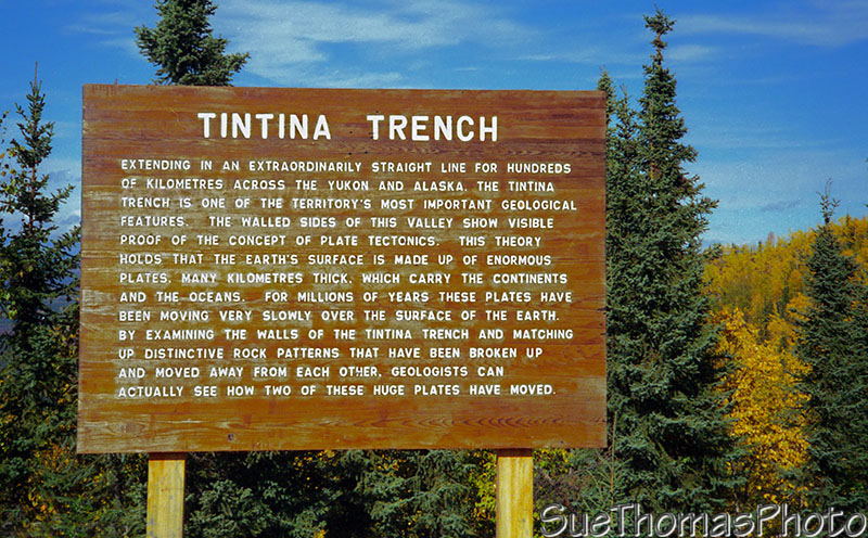 Tintina Trench sign, Yukon