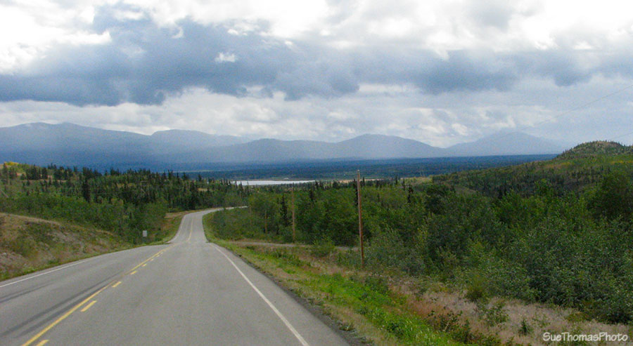 Heading south to Whitehorse on the North Klondike Highway in Yukon