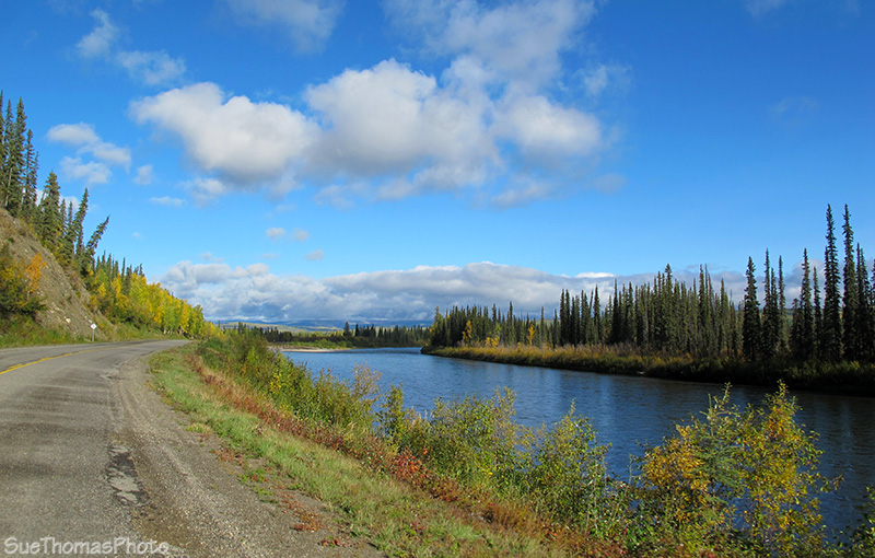 North Klondike Highway and Klondike River in Yukon