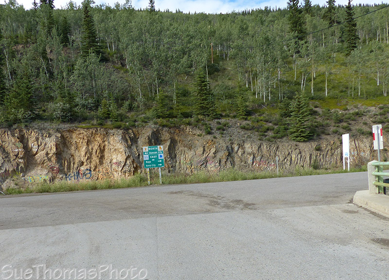 Junction of Silver Trail and Klondike Highway in Yukon