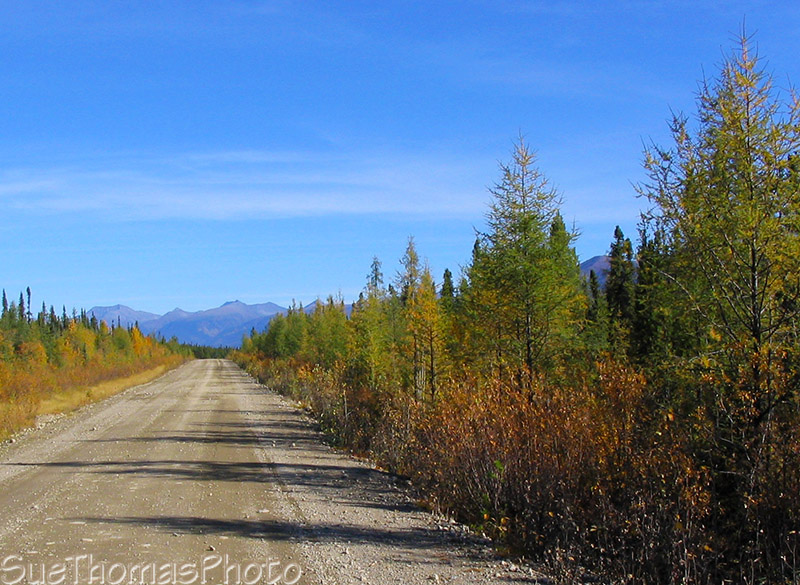 Start of Nahanni Range Road, Yukon