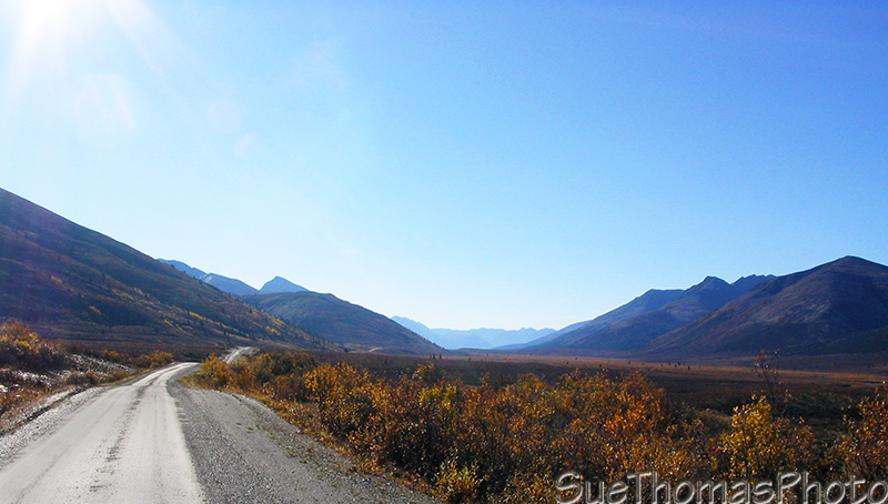 Valley along the Nahanni Range Road in Yukon
