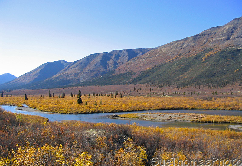 Nahanni Range Road and Little Hyland River in Yukon