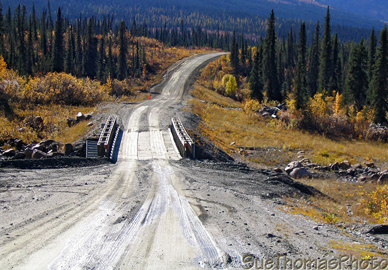 Bailey Bridge along the Nahanni Range Road in Yukon