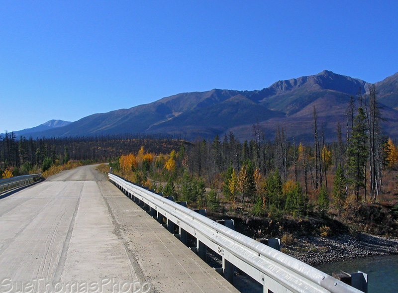 Bridge over the Hyland River on the Nahanni Range Road in Yukon