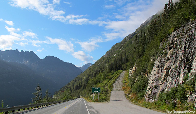 Descent into Skagway on the South Klondike Highway
