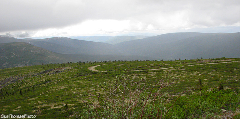 Road to the top of Keno Hill, Yukon