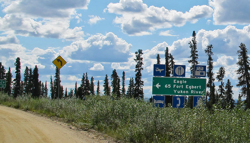 Jack Wade Junction on the Taylor Highway, Alaska