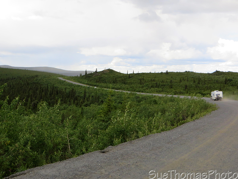 good gravel highway on the Top of the World Highway